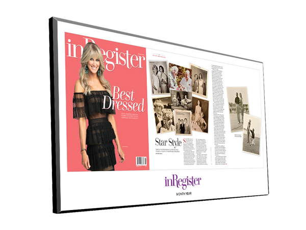 inRegister Magazine Article & Cover Spread Plaques by NewsKeepsake