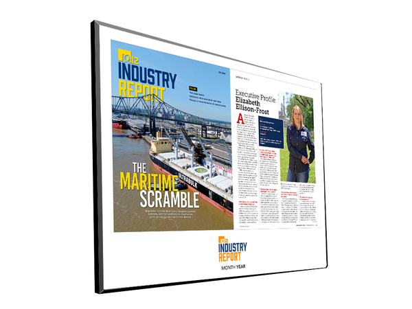 10/12 Industry Report Article & Cover Spread Plaques