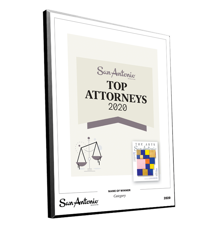 "San Antonio Magazine ""Top Attorneys"" Mounted Archival Award Plaque by NewsKeepsake"