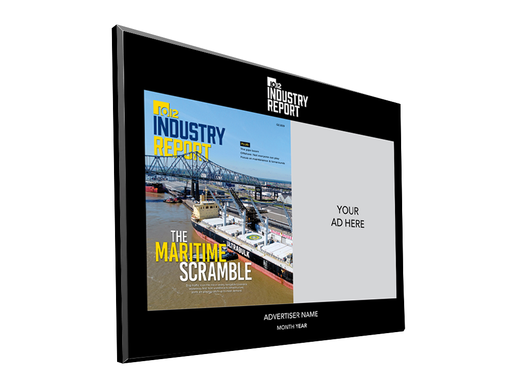 10/12 Industry Report Advertiser Countertop Display Plaques