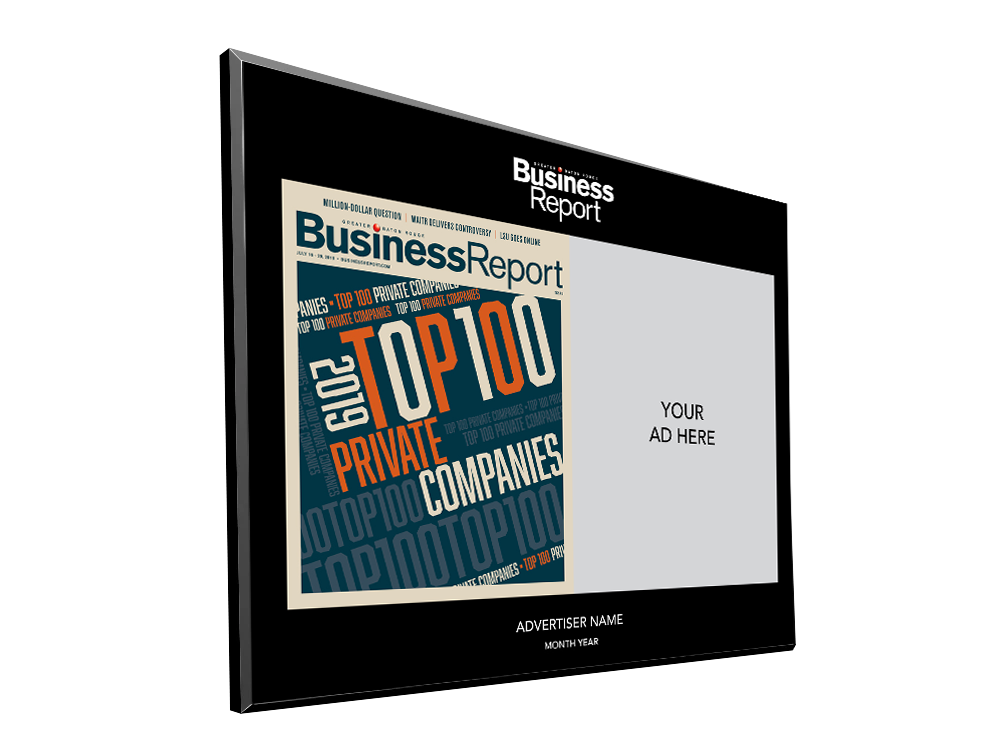 Business Report Advertiser Countertop Display Plaques