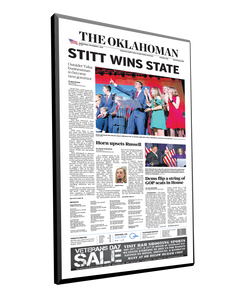 The Oklahoman Single-Page Plaque