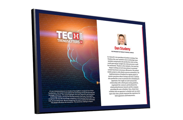 HousingWire Editorial Award Programs Profile Spread Plaques by NewsKeepsake