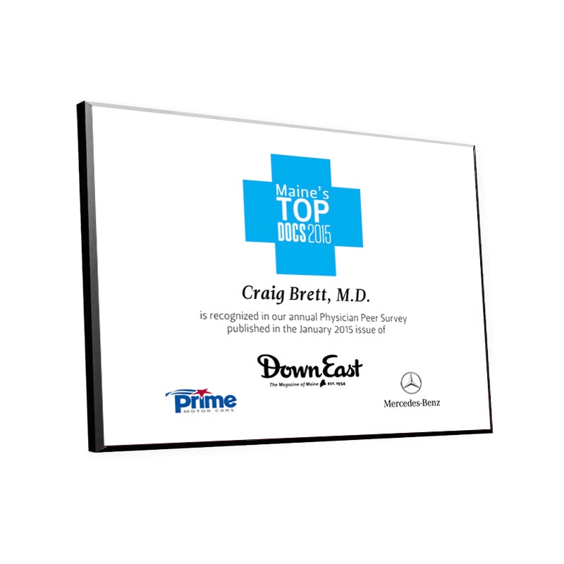 Top Doctor Certificate Award Plaque