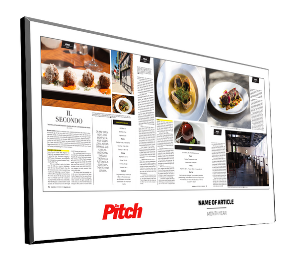 The Pitch Article Plaques