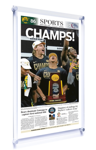 Waco Tribune-Herald Commemorative Sports Page - Modern Acrylic Sports Plaque