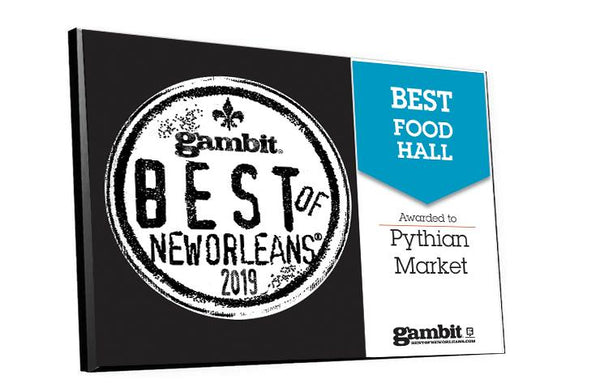 "Gambit ""Best of New Orleans"" Award Plaque"