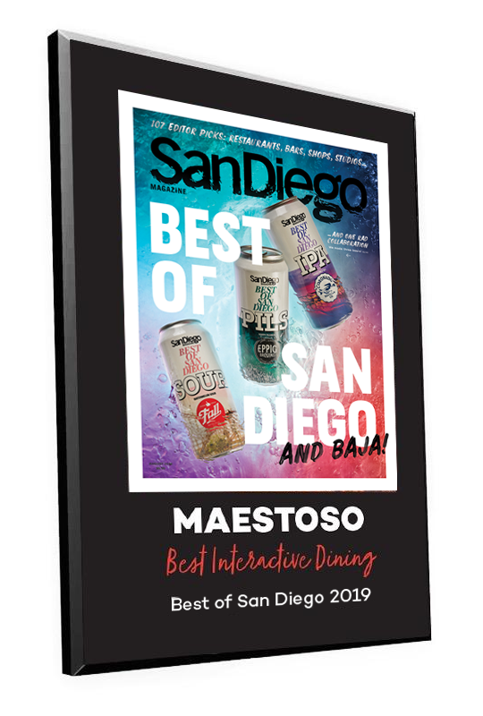 "San Diego Magazine ""Best of San Diego"" Award Plaque"