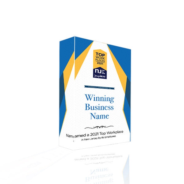 NJ.com and Jersey's Best Top Workplace Award Plaque | Acrylic Block