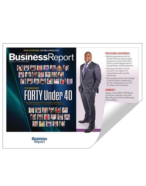 Forty Under 40 Award Reprints