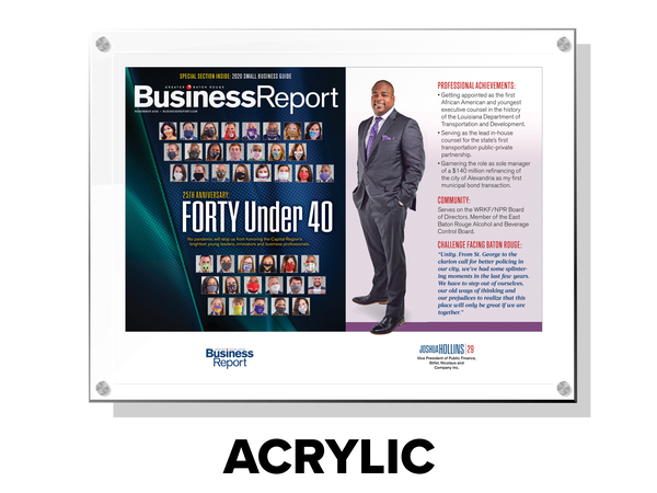 Forty Under 40 Spread Plaque