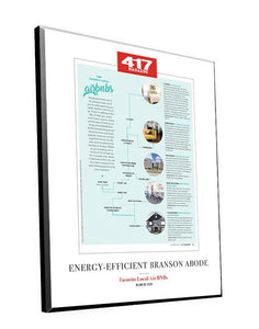 417 Magazine Single-Page Article Plaques