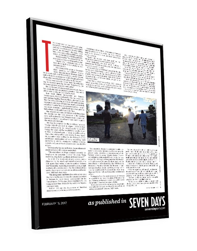 Seven Days Article Template Plaque by NewsKeepsake