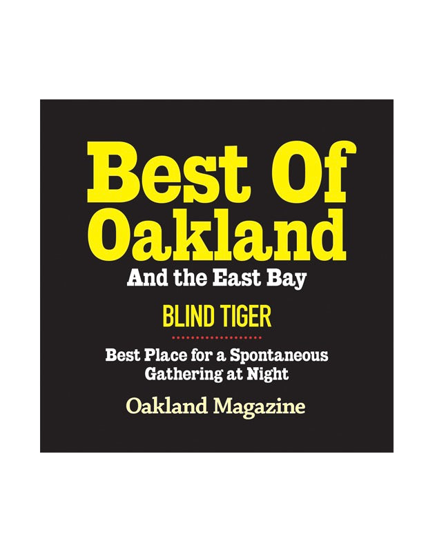 """Best of Oakland & the East Bay"" Award Cling"