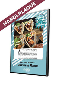 Albuquerque The Magazine's Best of the City Feature | Modern Hardi-Plaque by NewsKeepsake