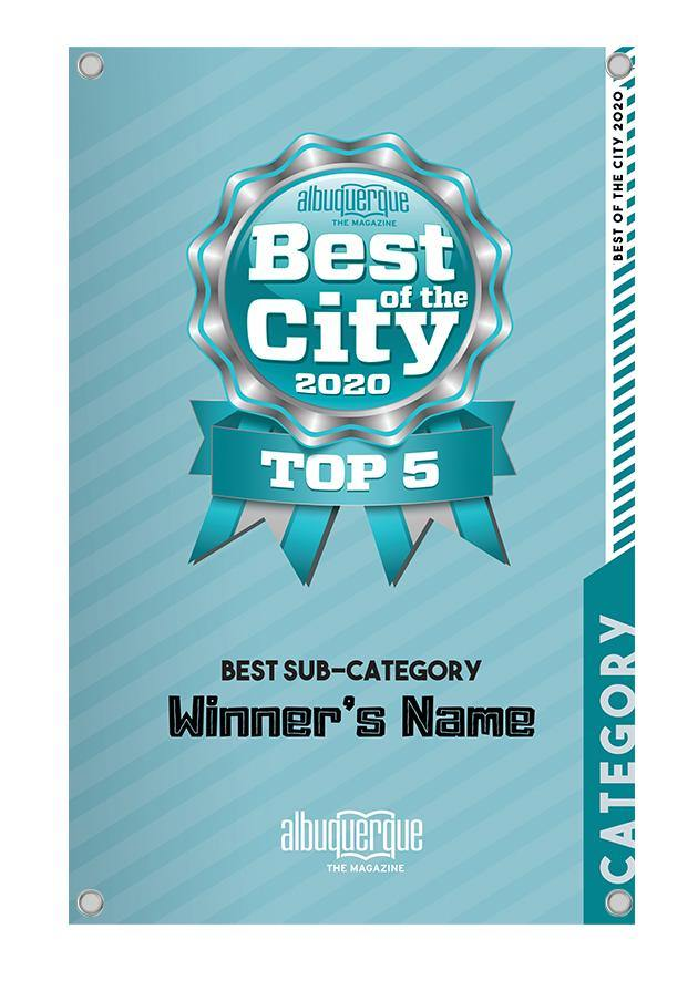 Albuquerque The Magazine's Best of the City Award Banner by NewsKeepsake