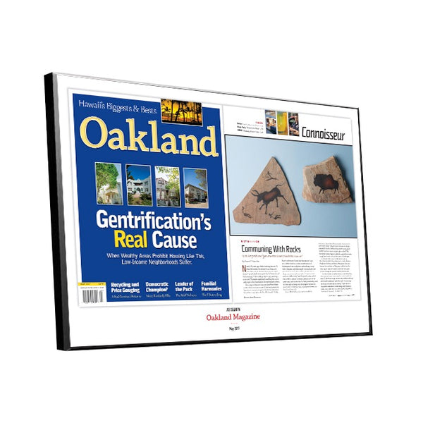 Oakland Magazine Article Spread Plaques