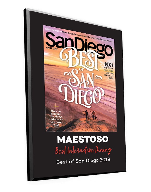 """Best of San Diego"" Award Plaque"