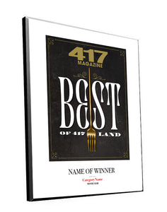 417 Magazine Best of 417 Award Plaques