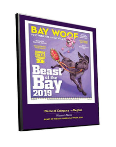 """Beast of the Bay"" Cover/Article Award Plaque"