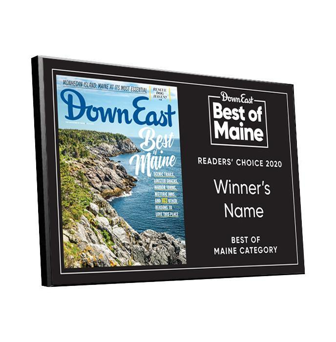 """Best of Maine"" Award Plaque by NewsKeepsake"