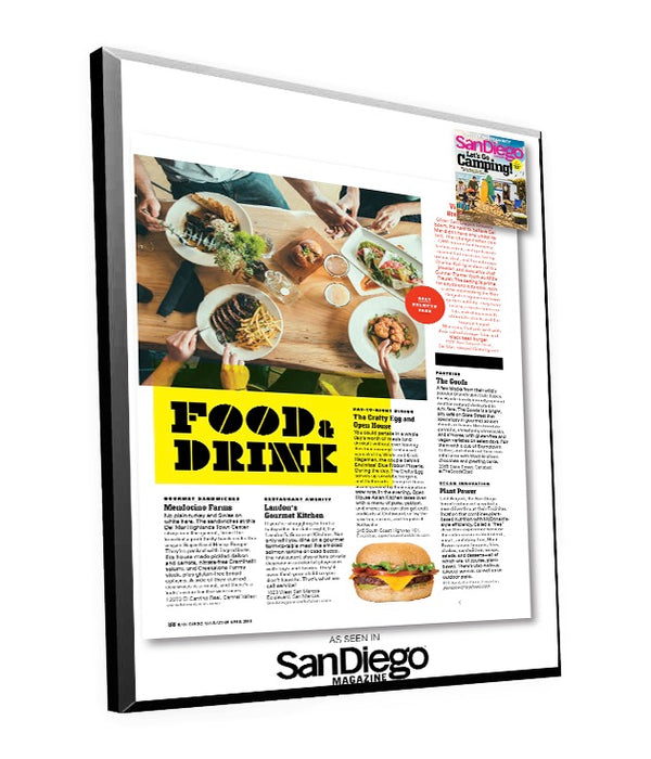 "San Diego Magazine ""Best of North County"" Article with Cover Plaque by NewsKeepsake"