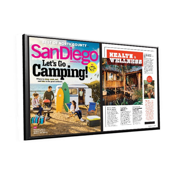 "San Diego Magazine ""Best of North County"" Article Spread Plaque by NewsKeepsake"