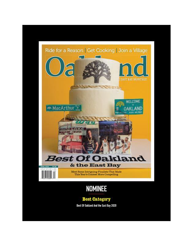 """Best of Oakland & the East Bay"" Cover Award Banner by NewsKeepsake"