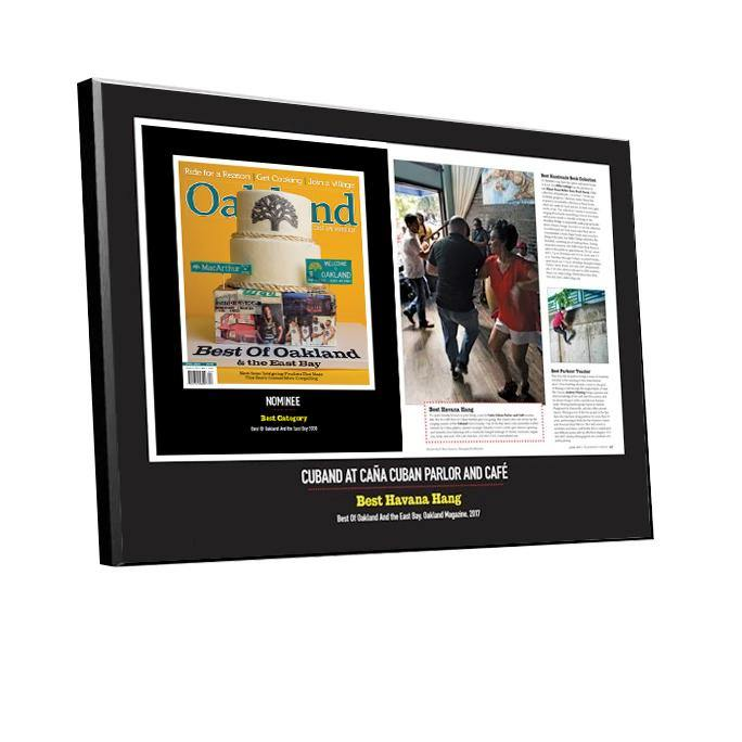 """Best of Oakland & the East Bay"" Cover & Article Award Plaque"
