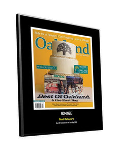 """Best of Oakland & the East Bay"" Cover/Article Award Plaque by NewsKeepsake"