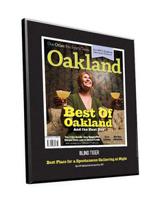"""Best of Oakland"" Cover Award Plaque"