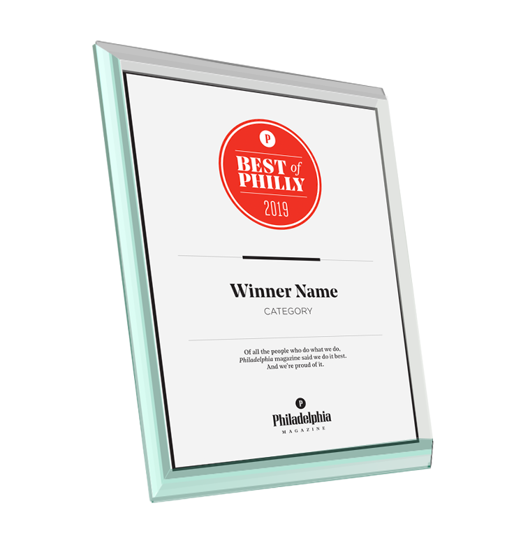 <em>Philadelphia</em> magazine Best of Philly Award - Glass