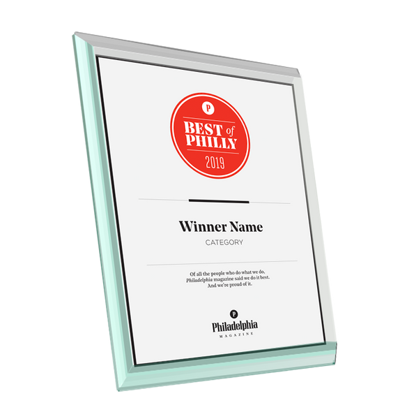 <em>Philadelphia</em> magazine Best of Philly Award - Glass by NewsKeepsake