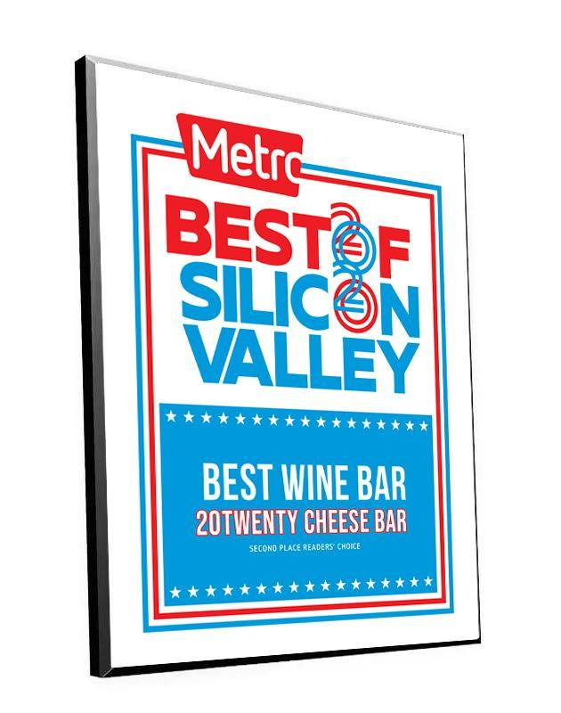 """Metro: Best of Silicon Valley"" Award Plaque by NewsKeepsake"