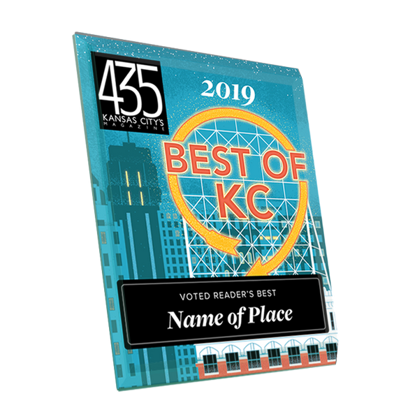 """Best of KC"" Award Plaque - Glass"