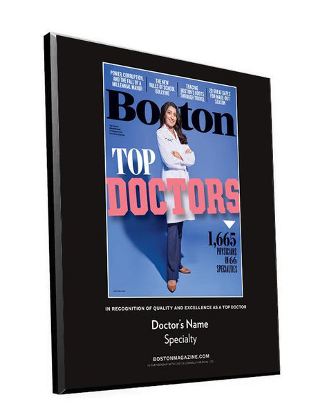 Boston Magazine Top Doctors Cover Award Plaque by NewsKeepsake