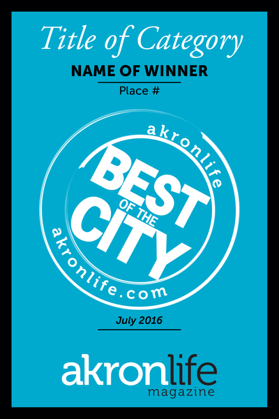 """Best of the City"" Award Window Cling"