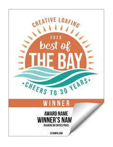 CL Tampa Bay Best of the Bay | Window Decal