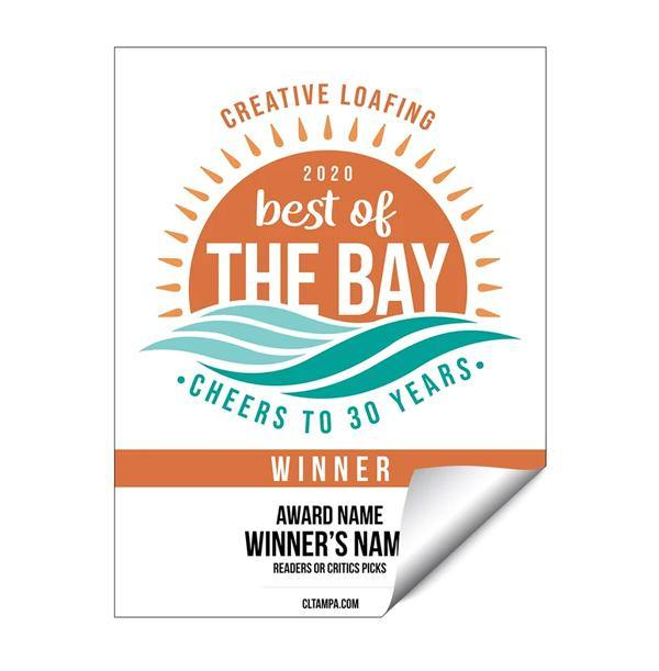 CL Tampa Bay Best of the Bay | Window Decal by NewsKeepsake