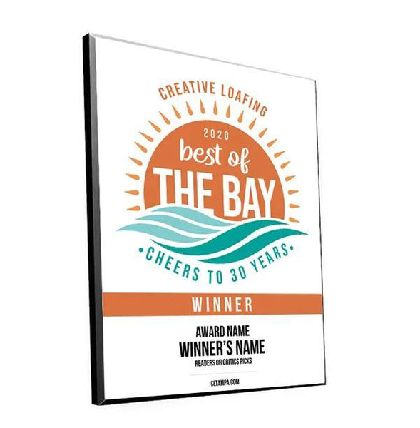 CL Tampa Bay Best of the Bay Plaque | Traditional Modern Mount