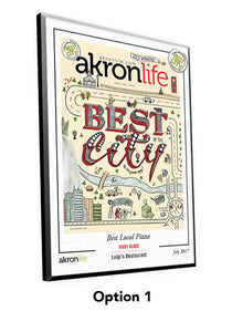 """Best of the City"" Cover Award Plaque"