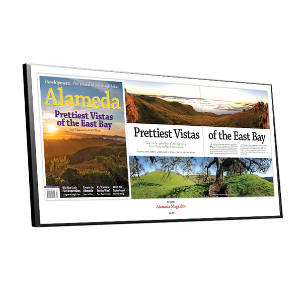 Alameda Magazine Article Spread Plaques