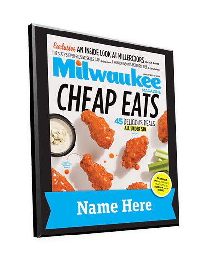 "Milwaukee Magazine ""Cheap Eats"" Award Plaque"