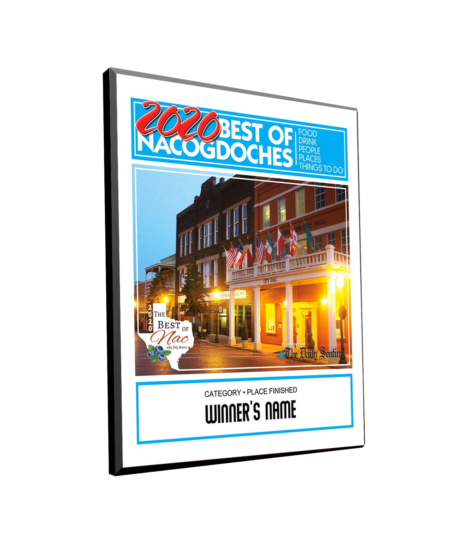 The Daily Sentinel Best of Nacogdoches 2020 Plaque - Modern Archival Mount by NewsKeepsake