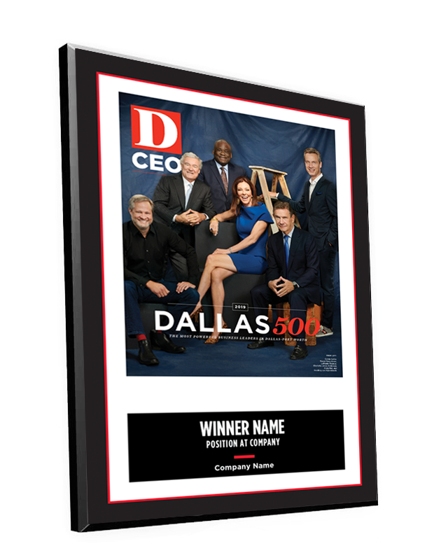 D CEO Dallas 500 Cover Plaque