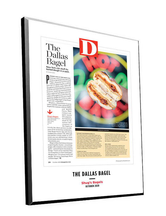 D Magazine Single-Page Article Plaques by NewsKeepsake