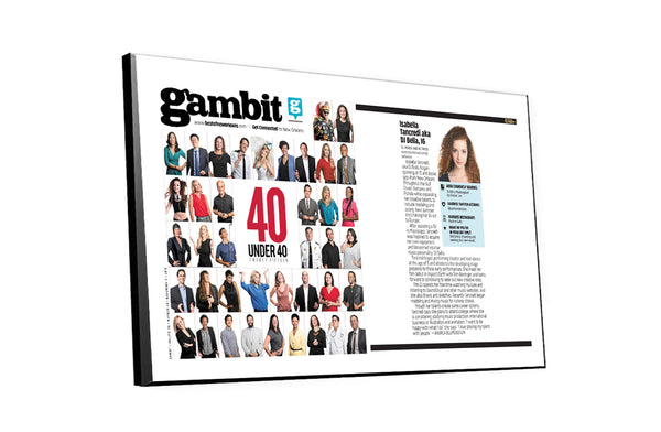 "Gambit ""40 Under 40"" Cover / Article Plaque"