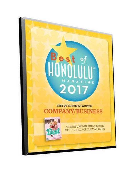 """Best of Honolulu"" Award Plaque"