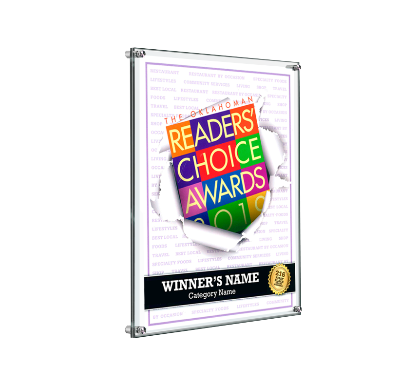 The Oklahoman Readers' Choice Plaque - Acrylic Standoff