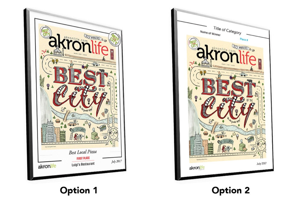 """Best of the City"" Cover Award Plaque by NewsKeepsake"